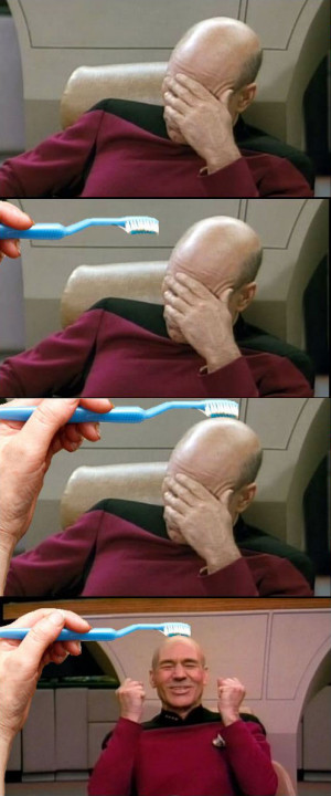 Funny photos funny facepalm meme toothbrush