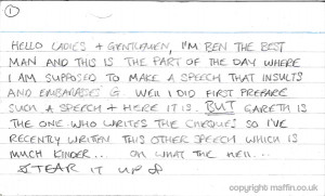 Best Man's Speech Example Used for Gareth and Kate's Wedding in ...