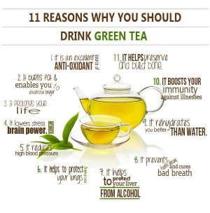 Green tea is good for you. Here are eleven reasons why you should ...