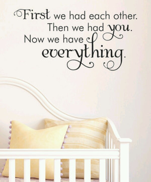 Precious little saying to go above the crib :)
