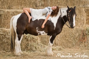 Brianne and her Gypsy Vanner horse, Apollo