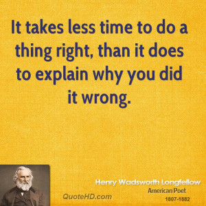 Henry Wadsworth Longfellow Time Quotes