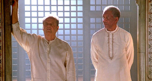Jack Nicholson as Edward Cole, and Morgan Freeman as Carter Chambers ...