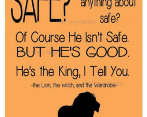 Digital Print- Narnia Quote about Aslan