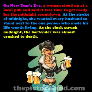 Cute Funny Jokes About Bartender With Beautiful Girl Image