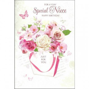 For A Very Special Niece Happy Birthday' Ladies Birthday Card ...