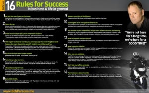 Bob Parsons 16 Rules