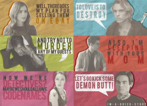 City of Bones funny quotes. Except for Jace, which has one if his only ...