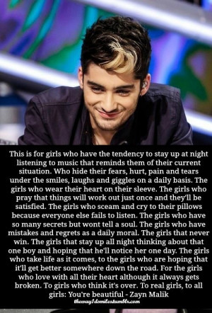 Zayn malik, quotes, sayings, about girls, long quote