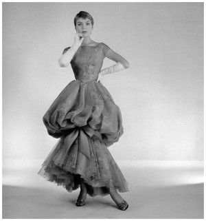Christa Päffgen (aka Nico) in evening gown by Jean Dessès,1957 Photo ...
