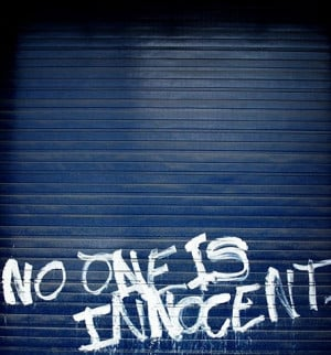 blue, graffiti, innocent, phrases, quote, quotes, sayings, white