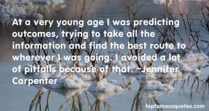 Favorite Jennifer Carpenter Quotes