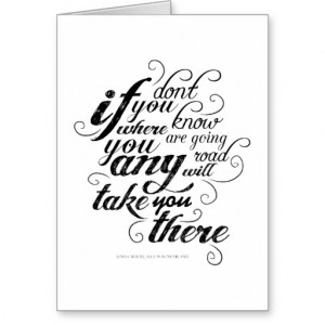 Alice in Wonderland - Quote 1 Card
