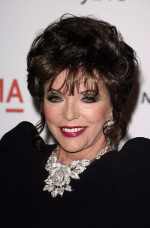 Dynasty star Joan Collins (who recently said that Jennifer Aniston isn ...