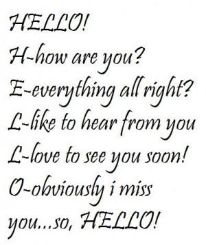 Hello pictures and quotes | hello quotes photo: HELLO HELLO.jpg