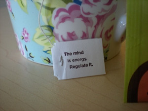"Yogi Tea quote of the day #1: ""The Mind is energy. Regulate it."""