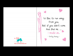 Love Card with romantic quote