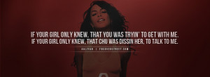 Aaliyah If Your Girl Knew Facebook Cover