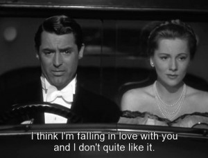 black and white, couple, love, man, movie, subtitle, text, woman