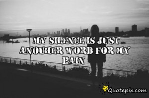 Quotes About Silence And Pain Download this quote posted by: