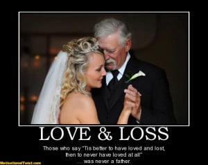 ... never a father motivational tags dad father daughter wedding love n