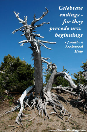 Celebrate endings - for they precede new beginnings.