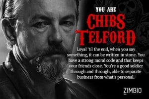 took Zimbio's 'Sons of Anarchy' character quiz and I'm Chibs Telford ...