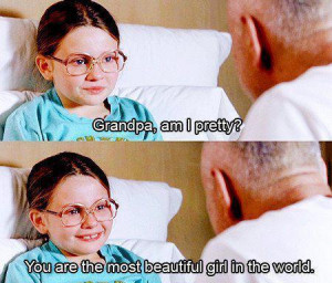 girl, grandpa, the most beautiful girl in the world