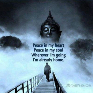 Peace in my heart quote