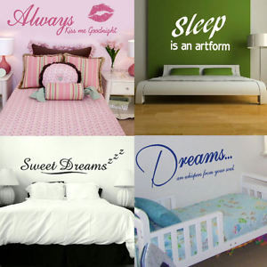 Bedroom-Wall-Quotes-Removable-interior-wall-stickers-home-bed-room-art ...