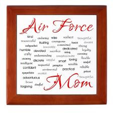 Air Force Mom Poem of words Keepsake Box