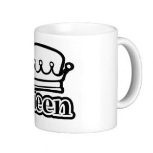 Queen ~ Crown Royal Royalty Coffee Mugs
