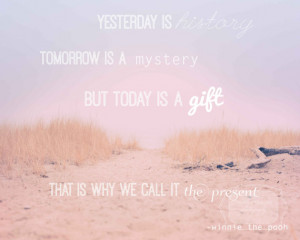 Inspirational Quote Winnie the Pooh Photo. Inspirational quote beach ...