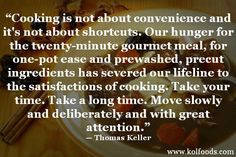Daily Quote www.kolfoods.com #food #quote #cooking