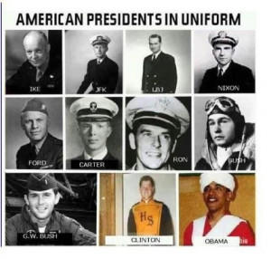 American Presidents in Uniform.....CHARACTER IS EVERYTHING ...