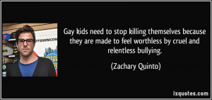 Gay kids need to stop killing themselves because they are made to feel ...