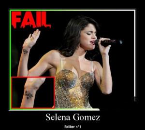 Selena Gomez Tattoo fail