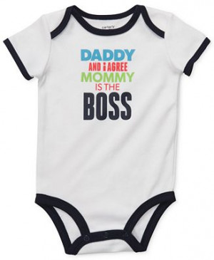 ... , Baby Boys Daddy and I Agree Mommy is the Boss Slogan Bodysuit
