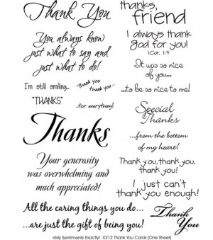 MSE My Sentiments Rub-Ons - Thank You Cards : rub-ons : scrapbooking ...