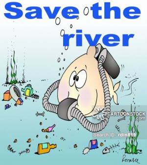 pollution cartoons, river pollution cartoon, funny, river pollution ...