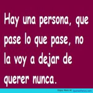 Spanish Amor Quote -