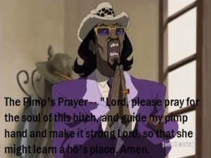 The Boondocks #A Pimp Named Slickback #The Pimp's Prayer #funny