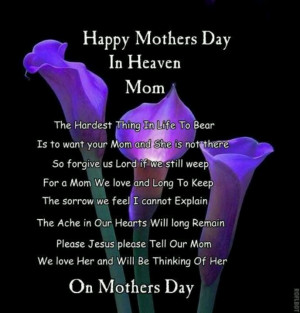 Happy mother's day to my mother-in-law in heaven! We all miss you ...