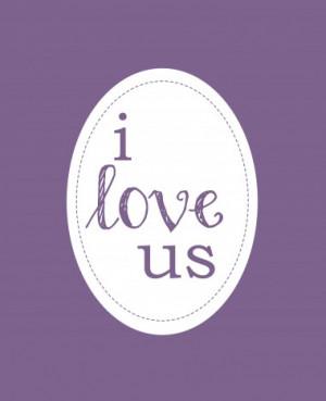 Love Us (Purple) - Photo Canvas Print for Art, Love, Family, Kitchen ...