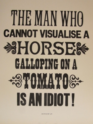 Buy A Horse Galloping on a Tomato (Andre Breton) by Stephen Kenny at ...