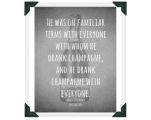 ... With Everyone - Leo Tolstoy Anna Karenina Quotation 8x10 Art Print