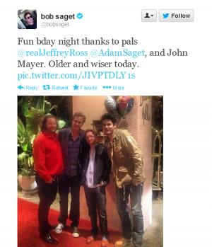 John Mayer, Jeffrey Ross, Bob Saget And Adam Saget   May 17, 2013