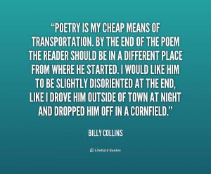 Transportation Poem