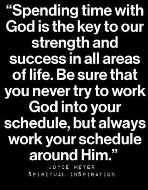 Put God first. #joycemeyer