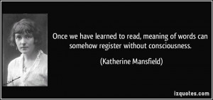 More Katherine Mansfield Quotes